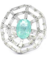 Ri Noor - Web Paraiba And Baguette Diamond Ring - Lyst