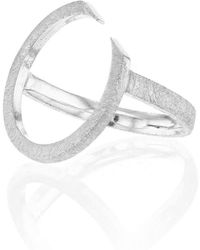 Ilda Design - Silver Ring With Circling Top - Lyst