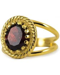 Vintouch Italy - Luccichio Garnet Dual Ring - Lyst