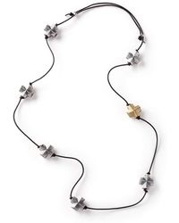 Diane Dorsey - Gold And Silver 7 Cross Necklace - Lyst