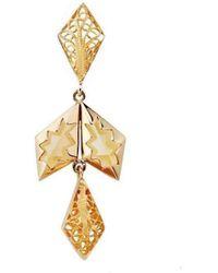 Mimata - Sun - Yellow Gold Earrings, Filigree And Citrine - Lyst