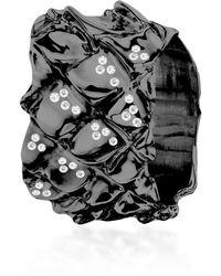 Hazel NY - Black Mamba Band Black Rhodium Plated - Lyst
