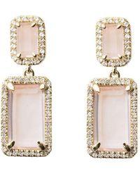 Emily Mortimer Jewellery - Electra Rose Quartz Earrings - Lyst