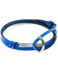 Anchor & Crew - Royal Blue Clipper Silver And Leather Bracelet - Lyst