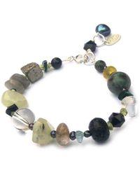 Katherine Bree - Vert Noir Mixed Gemstone Eclectic Pebble Bracelet - Lyst