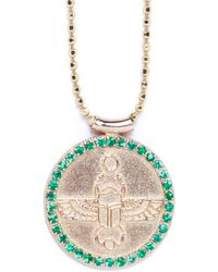 Congés - Scarab Choker With Emeralds - Lyst