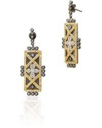 Freida Rothman | Geometric Stripe Clover Bar Earrings | Lyst