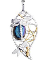 Gallardo and Blaine Designs - Bullrush Pendant In Blue Titanium Druzy - Lyst