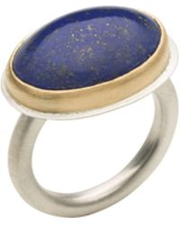 Naomi Tracz Jewellery - Lapis Lazuli Ring - 18kt Yellow Gold And Silver - Lyst