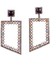 Meghna Jewels - Bora Bora Tourmaline Earrings - Lyst