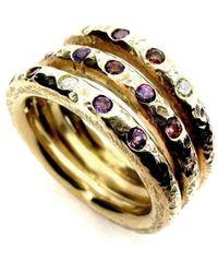 Will Bishop White Gold, Garnet & Diamond Ring - UK G - US 3 3/8 - EU 45 1/4