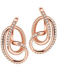 Fei Liu - 18kt Rose Gold Plated Serenity Stud Earrings - Lyst