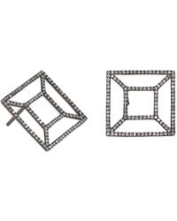 Bridget King Jewelry - Diamond Black Windowpane Earrings - Lyst
