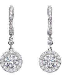 Lustre of London - Long Halo Earrings - Lyst