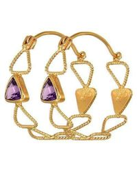 Christina Soubli - Multiple Triangles Hoops With Amethysts - Lyst
