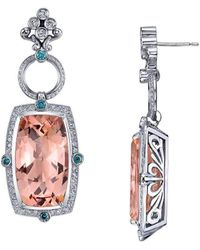 """Dallas Prince Designs - """"hollywood Blush"""" Earring With Morganite And Diamonds - Lyst"""