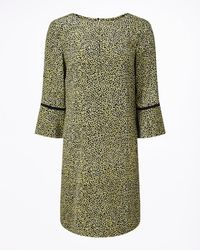 Jigsaw - Floral Leaf Midi Dress - Lyst