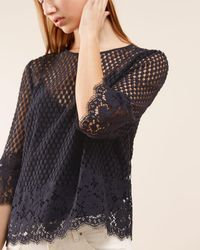 Jigsaw - Engineered Floral Lace Top - Lyst