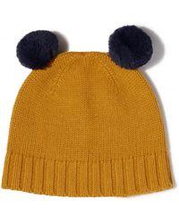 Jigsaw - Faux Fur Trim Hat - Lyst