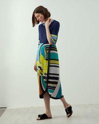 Jigsaw - A - Daffodil Print Wrap Skirt - Lyst