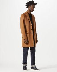 Jigsaw - Camel Wool Cashmere Epsom Coat - Lyst