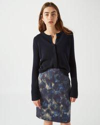 Jigsaw - Textured Marble Print Skirt - Lyst