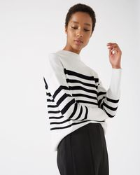 Jigsaw - Knitted Breton Jumper - Lyst