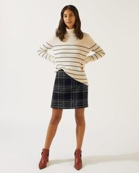 Jigsaw - Monochrome Check Mini Skirt - Lyst