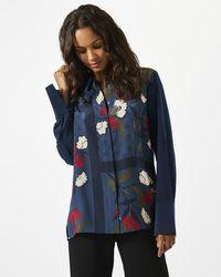 Jigsaw - Nordic Floral Silk Blouse - Lyst