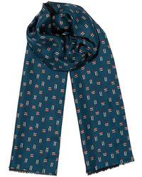 Jigsaw - Cross Hatch Silk Wool Scarf - Lyst