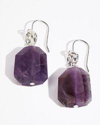Jigsaw - Amethyst Rock Disc Earring - Lyst