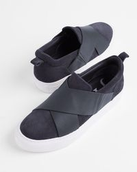 Jigsaw - Olivia Leather Suede Mix Trainer - Lyst