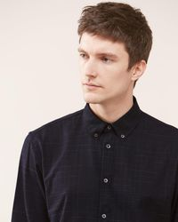 Jigsaw - Italian Space Dye Check Shirt - Lyst