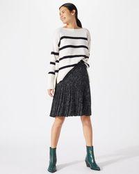 Jigsaw - Snow Drop Print Pleated Skirt - Lyst