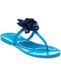 Tory Burch - Blossom Blue/navy Sea Jelly Sandal - Lyst