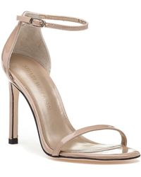 Stuart Weitzman | Nudistsong Adobe Patent Leather Sandal | Lyst