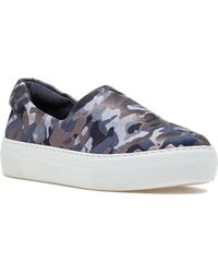 J/Slides | Ariana Slip On Sneaker Grey Camo Fabric | Lyst