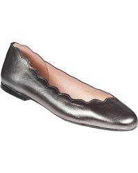 French Sole - Jigsaw Ballet Flat Pewter Leather - Lyst