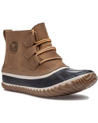 Sorel - Out N About Tan Leather Boot - Lyst