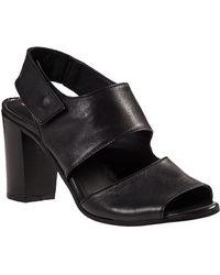 275 Central - Block Heel Sandal Black Leather - Lyst