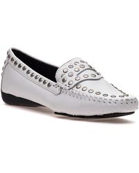 Robert Zur - Tango White Leather Loafer - Lyst