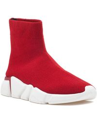 Jeffrey Campbell - Redman Stretch Sneaker Red Fabric - Lyst