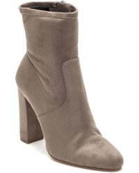 Steve Madden - Edit Taupe Suede Boot - Lyst