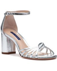 5f69db4c14ee5 Stuart Weitzman - Sutton Sandal Silver Crinkle Metallic - Lyst
