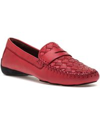 Robert Zur - Petra Vintage French Red Leather Loafer - Lyst