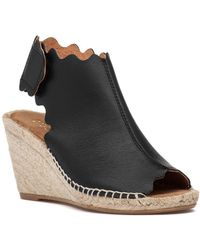 275 Central - Quonda-n Espadrille Wedge Black Leather - Lyst