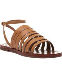 Tory Burch - Patos Blond Leather Ankle Strap Sandal - Lyst