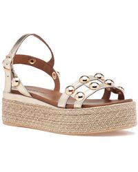 275 Central - 8914 Sandal Gold Leather - Lyst