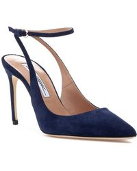 Brian Atwood - Vicky Pump Midnight Navy Suede - Lyst