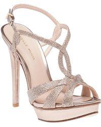 Pelle Moda - Farrell Platinum Gold Evening Sandal - Lyst